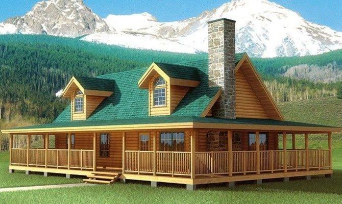 Best Log Cabin House Plans Wrap Around Porches