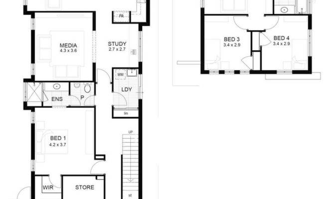 Best Narrow Block Plans Pinterest Small
