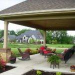 Covered Back Porch Backyard Patio Plans Design Idea House Plans