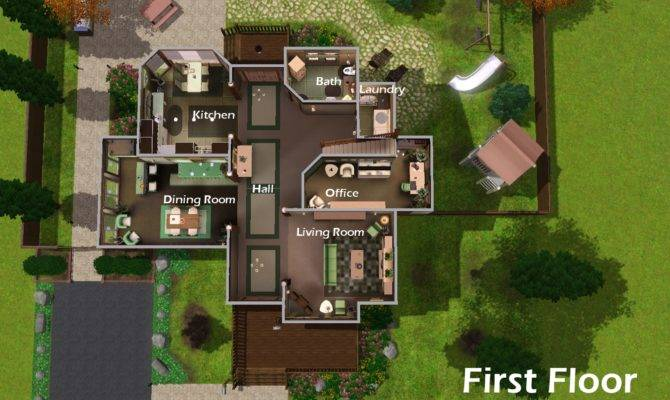 Best Simple Sims Mansion Floor Plans Ideas Building