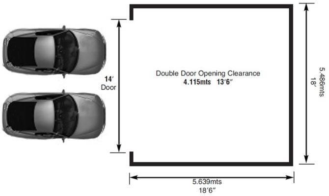 Best Two Car Garage Door Width Regarding