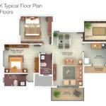 Bhk Flat Design Plans Floor Plan