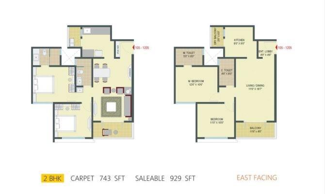 Bhk Flat Floor Plan Vastu