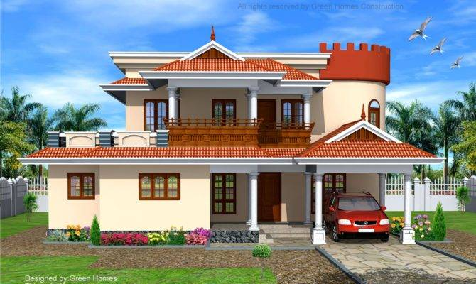 Bhk Indian Style Home Designed Construction Green Homes