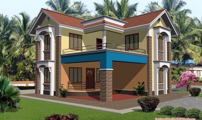 Bhk Two Story Home Design House Really Superb Has