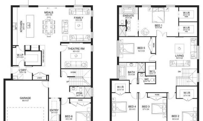 Big Double Storey House Plans Home Deco