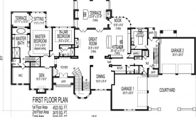 Big House Floor Plans Story