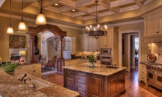 Big Luxury Kitchen Beautiful Rooms Pinterest Kitchens