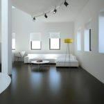 Black Tile Flooring Modern Living Room