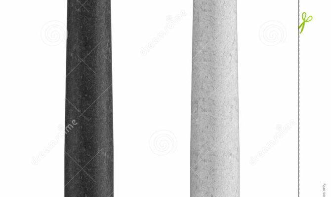 Black White Marble Tuscan Column Illustration