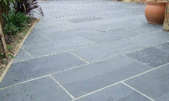 Blackgrey Slate Paving Patio Garden Slabs Slab Tile