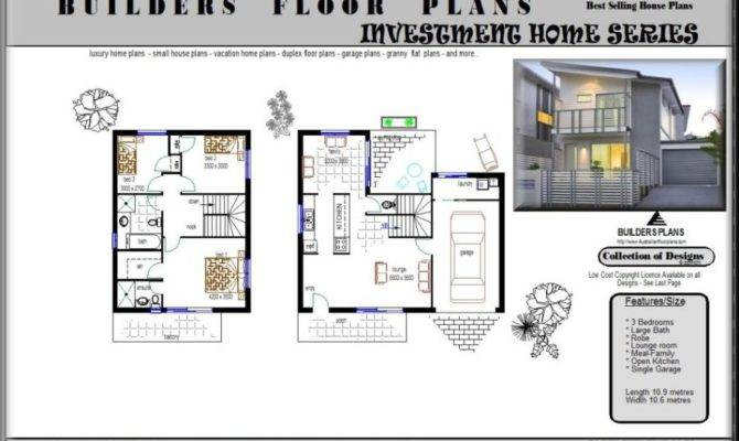 Block Duplex Design Townhouse Floor Plan Plans
