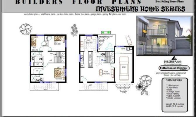 Block Duplex Design Townhouse Floor Plan Plans