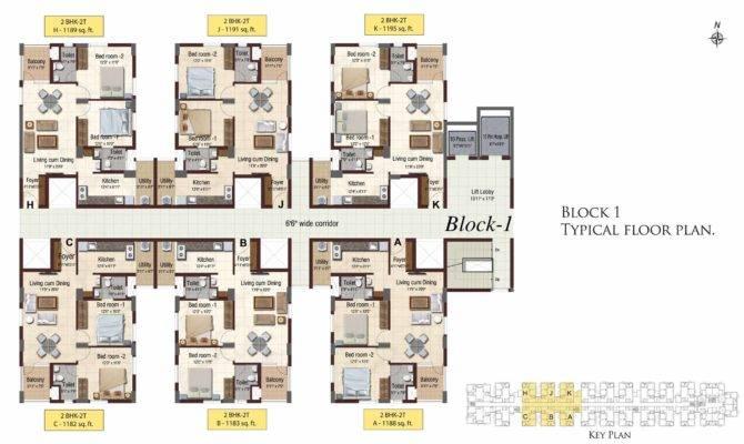 Block Typical Floor Plan