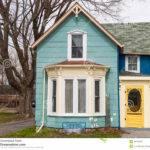 Blue House Bay Window