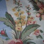 Blue Offwhite Stripe French Country Flower Print Gotspringfever