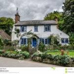 Blue White Traditional English Cottage