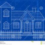 Blueprint Building Vector Digital