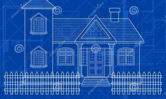 Blueprint Building Vector Digital