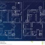 Blueprint Home Illustration