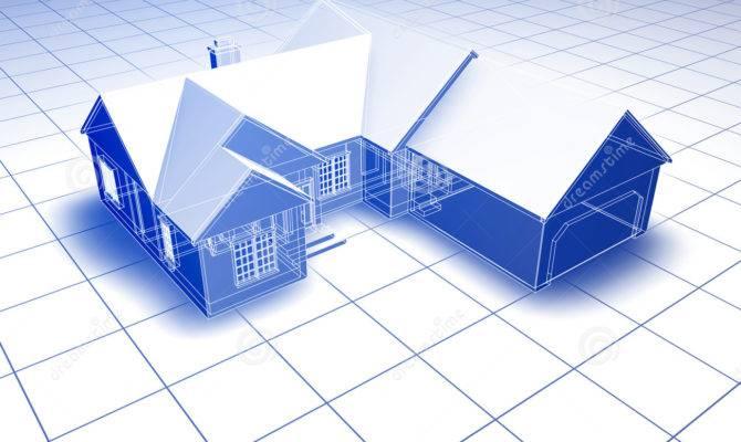 Blueprint House Illustration Apartment