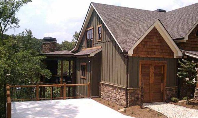 Board Batten Stone Exterior Design Pinterest