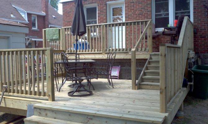 Board Beyond Home Improvements Two Tier Backyard Deck