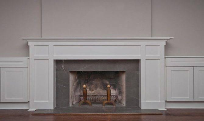 Bookcase Fireplace Surround Craftsman Style