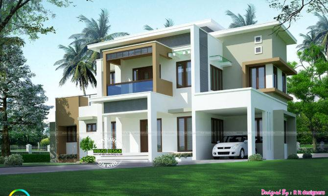 Box Model Contemporary Architecture Kerala Home
