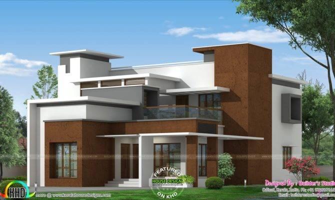 Box Type Modern Home Architecture Plan Kerala