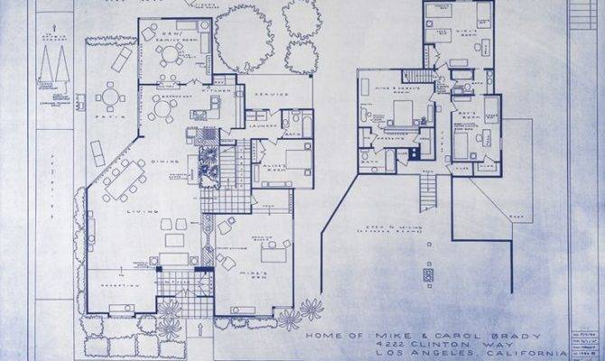 Brady Bunch House Blueprint Mid Century Modern Design