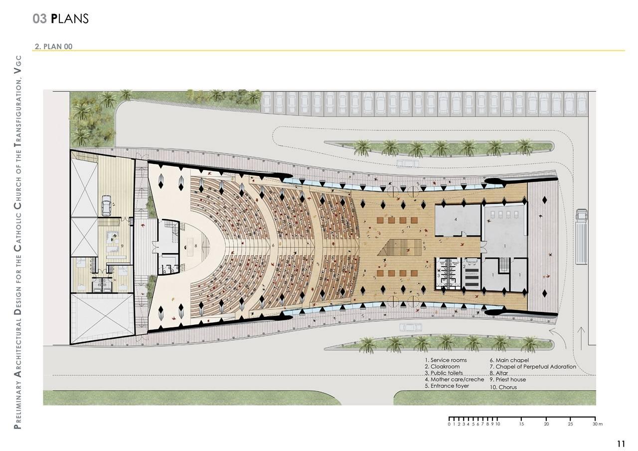 Brand New Church Building Floor Plan Lagos Nigeria Dos Architects House Plans 16029