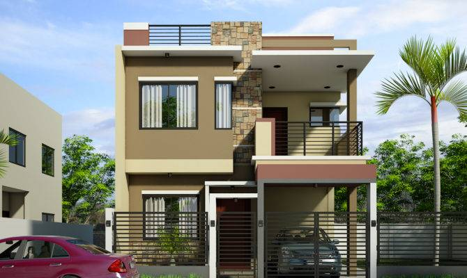 Breathtaking Double Storey Residential House Home Design