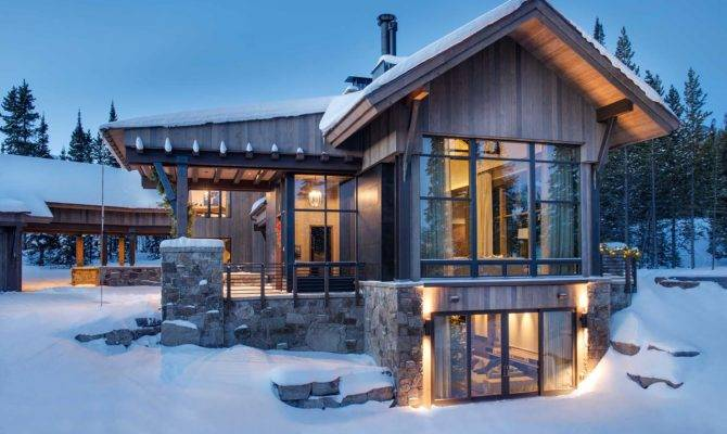 Breathtaking Mountain Modern Home Deep Montana Forest