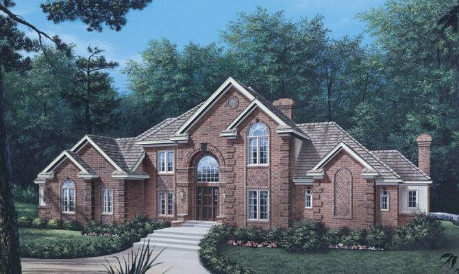 Briarcrest Luxury Two Story Home Plan House