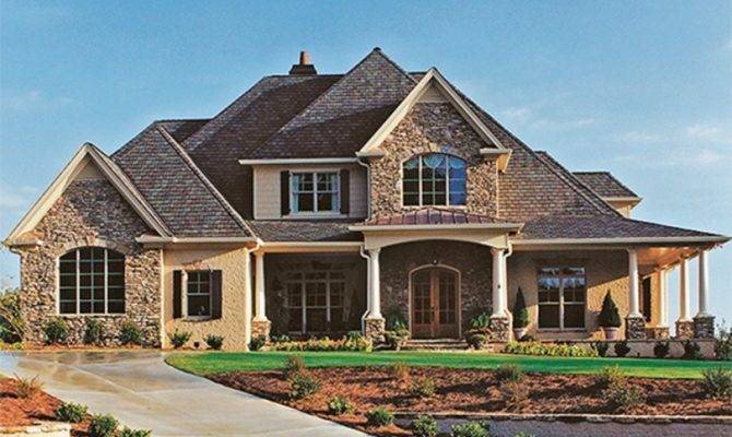 Brick Country House Plans One Story Design
