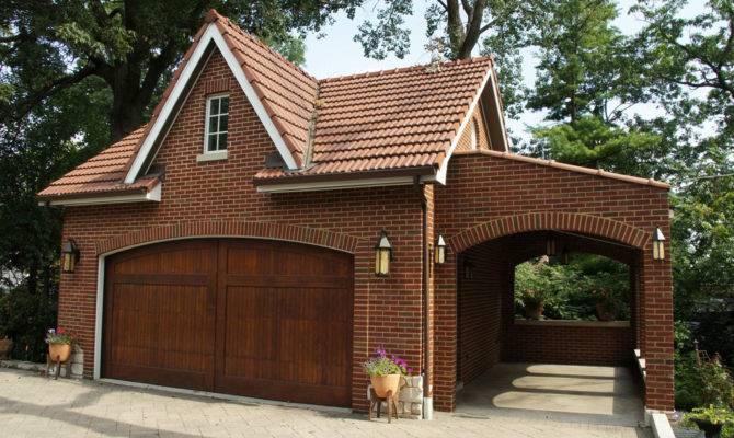 Brick Garage Designs Quite Simple Unique
