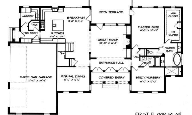 Brick Georgian House Plans Floor Lrg