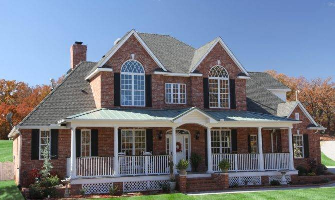 Brick Homes House Plans Porches Southern Home