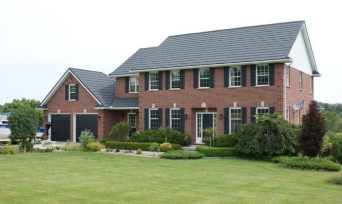 Brick Homes Metal Roofs
