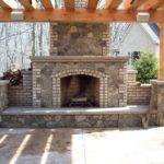 Brick Outdoor Fireplace Plans Designs