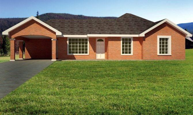 Brick Ranch Home Plan Architectural Designs