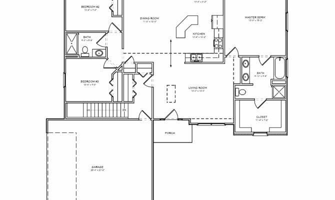 Brick Ranch House Plan Bedroom