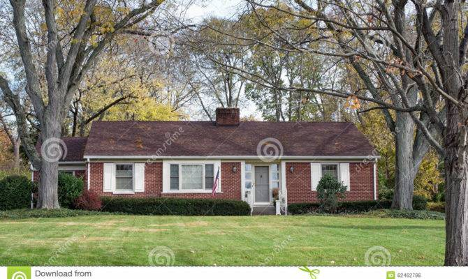 Brick Ranch House Wooded Setting