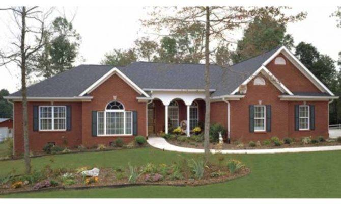 Brick Ranch Style House Plans Painted