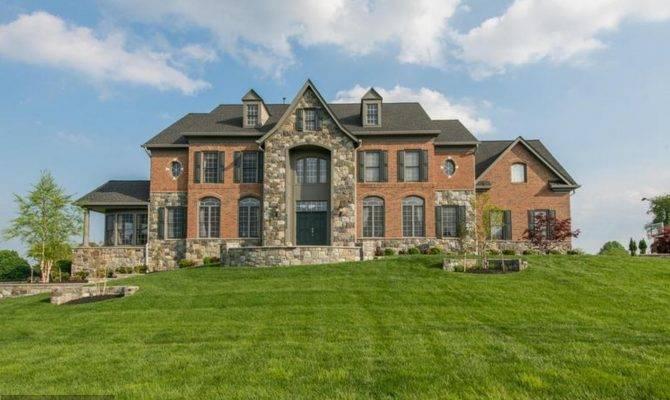 Brick Stone Colonial Mansion Laytonsville