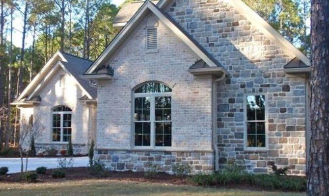 Brick Stone Exterior Home Design Ideas