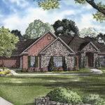 Brick Stone Ranch Houses Laddonia Manor Luxury Home Plan