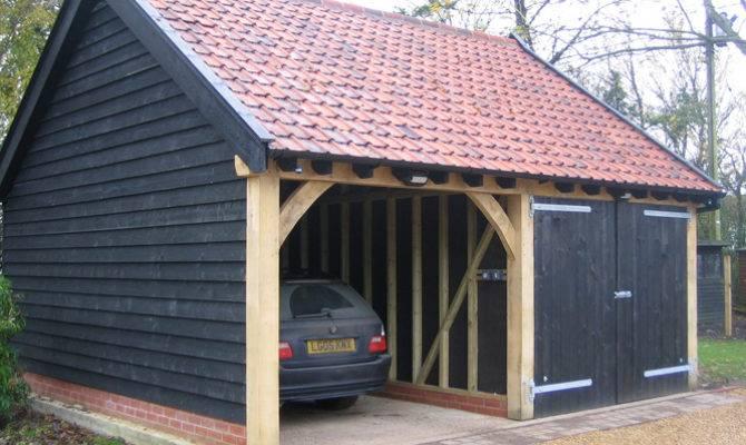 Brick Timber Garage Construction Classic Suffolk