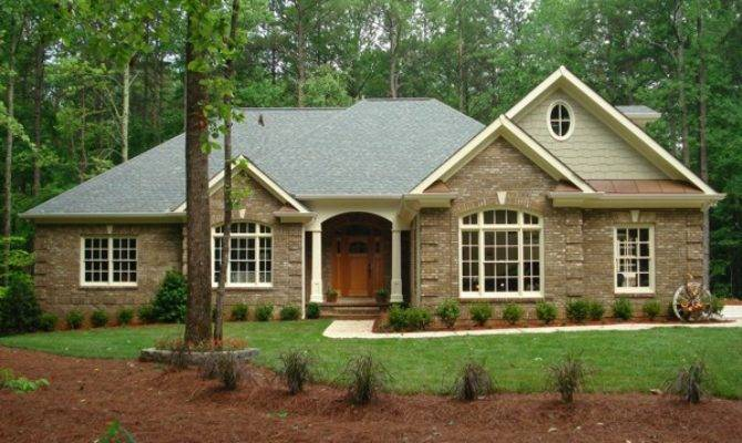 Brick Vector Ranch House Plans